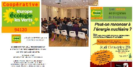 Les débats de la coopérative écologiste de Fontenay : 1 an déja !