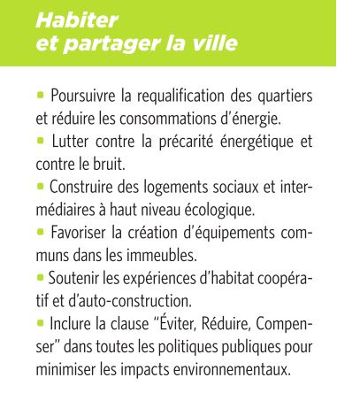 EELV : nos propositions - Page 5 Habiter