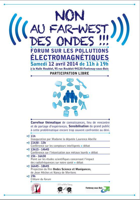 « Non au Far-West des ondes » forum sur les pollutions électromagnétiques Farwest