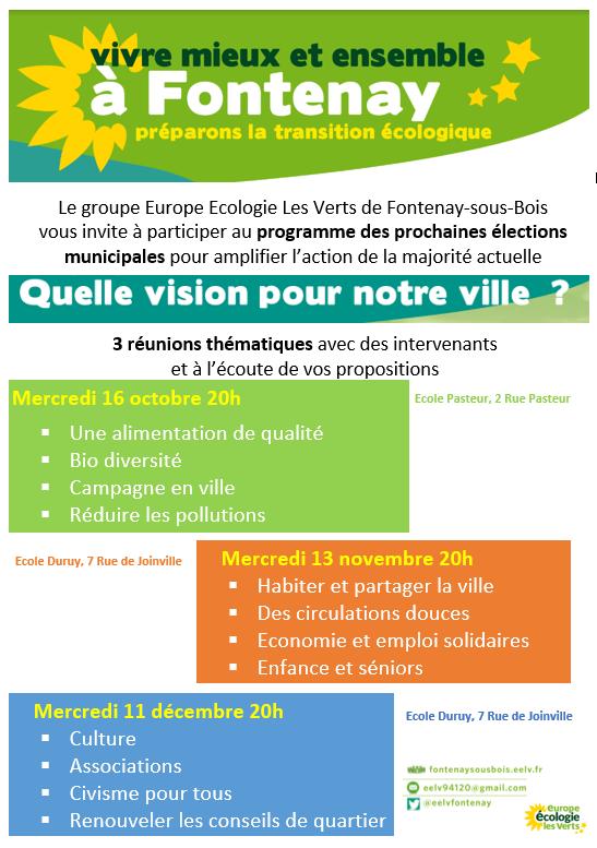 Orientation pour les prochaines élections municipales  : Communiqué EELV Eelv-thematiques
